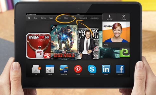 טאבלט ה-Kindle Fire HDX 8.9 של אמזון (צילום: אמזון)