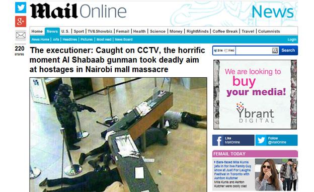 החטיפה בניירובי, בשבוע שעבר (צילום: מתוך אתר הדיילי מייל הבריטי)