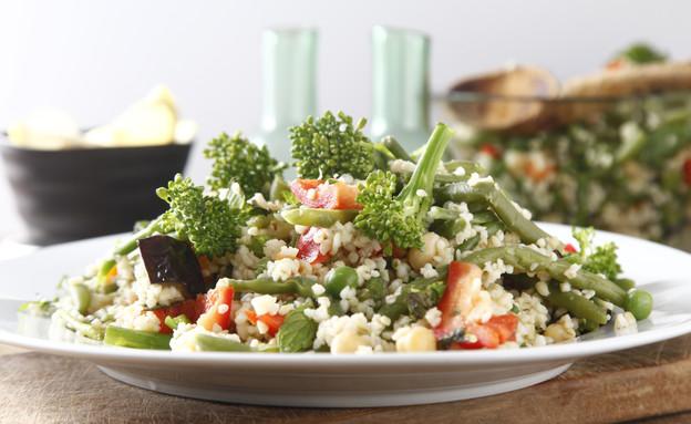סלט בורגול עם ירקות (צילום: אפיק גבאי, אוכל טוב)