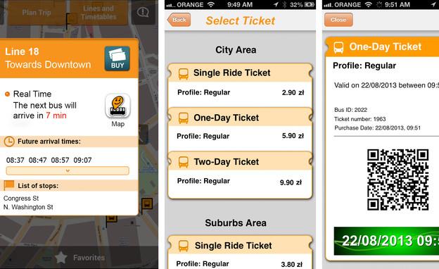 רכישת כרטיסי נסיעה ב-Moovit (צילום: Moovit, צילום מסך)