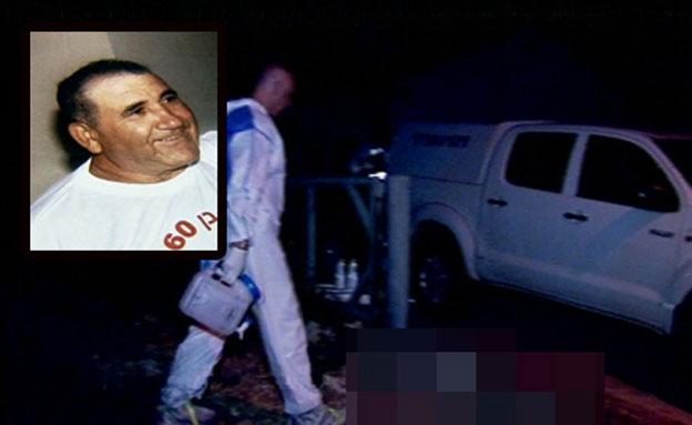 """זירת הרצח של איציק אלגבי ז""""ל (צילום: חדשות 2)"""