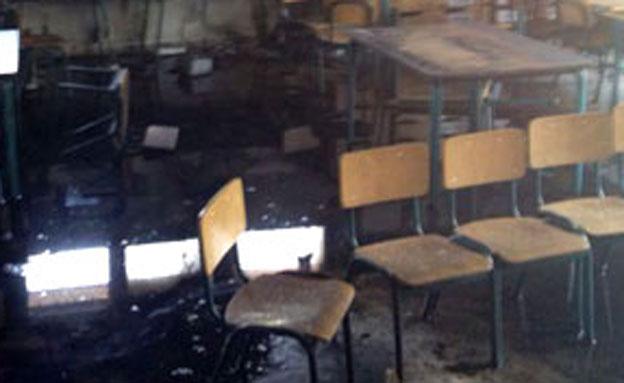 גן ילדים שהוצת במושב חלץ (צילום: חדשות 2)
