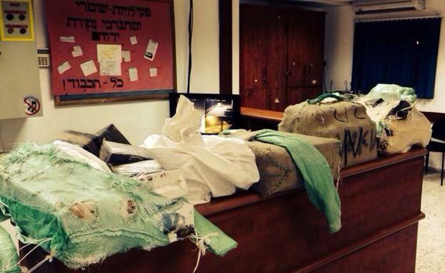 הסמים שנתפסו (צילום: משטרת ישראל מחוז דרום)