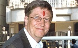 ביל גייטס בכנס תרומות נגד איידס (צילום: Sondeep Shankar, GettyImages IL)