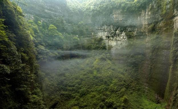 מערכת המערות הענקית במחוז צ'ונגצ'ינג (צילום: dailymail.co.uk)