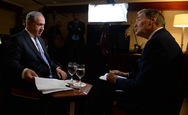 """נתניהו בראיונות לתקשורת הזרה (צילום: קובי גדעון / לע""""מ)"""