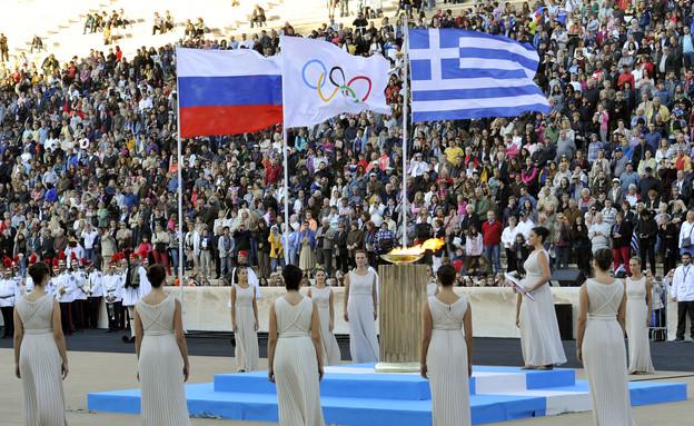 טקס העברת הלפיד אתונה (צילום: Getty Images, GettyImages IL)