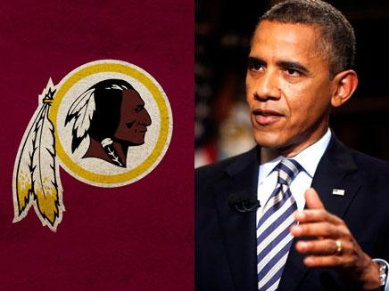 אובמה VS רד-סקינס (צילום: AP, Redskins)