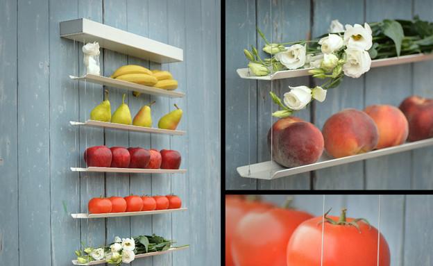 חמישייה 7.10, מדפים קולאז (צילום: fruit-wall)