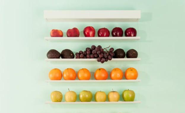 חמישייה 7.10, מדפים פירות (צילום: fruit-wall)