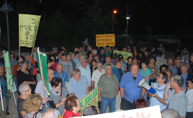 הפגנה ברחובות (צילום: אורי בן צבי)