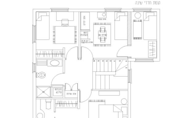 שרית-קרפ-חדש,-תכנית-קומת-חדרי-שינה (תמונת AVI: גלעד רדט)