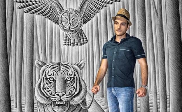 ציורי ענק של בן היינה (צילום: deviantart.com)