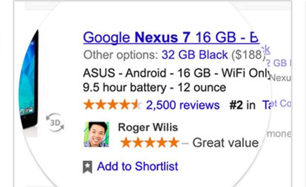 פרסומות בכיכוב החברים בגוגל (צילום: גוגל)