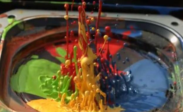 צבעים על רמקולים