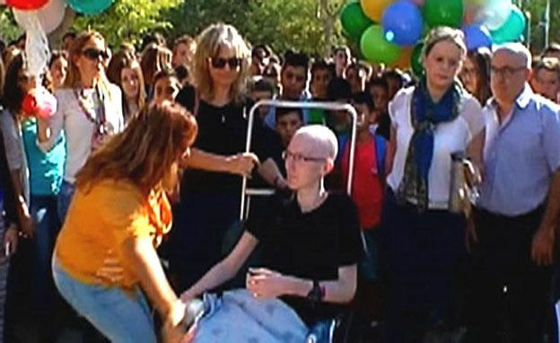 הכיתה ארגנה יום התרמה לליאור החולה (צילום: חדשות 2)