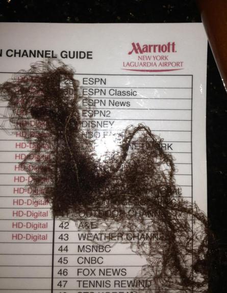שערות באמבטיה במריטו ניו יורק, בלוג סיוט במלון