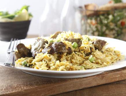 אורז בסמטי עם כבד ובטטה (צילום: אפיק גבאי, אוכל טוב)