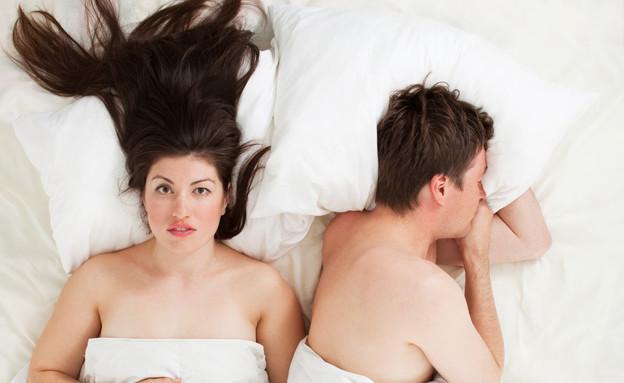 זוג במיטה- אמצעי מניעה חדש (צילום: Thinkstock)