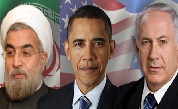 """""""שעת כושר לפתרון מדיני"""" - נתניהו, אובמה ורוחאני (צילום: AP, רויטרס, חדשות 2)"""