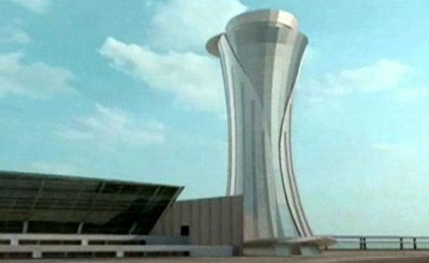 """רק ב-2015. המגדל החדש בנתב""""ג (צילום: חדשות 2)"""
