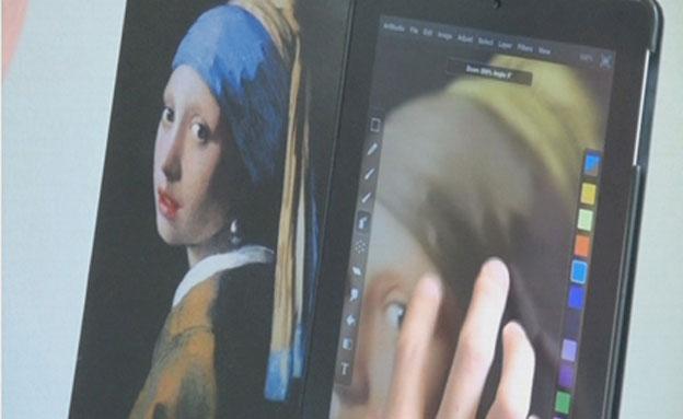 ציור באייפד (צילום: חדשות 2)