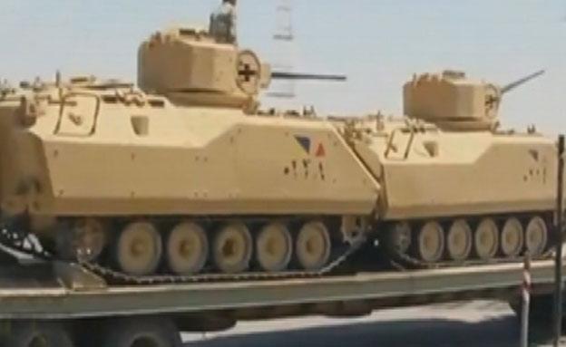 פעילות הצבא המצרי בסיני לקראת סיום (צילום: צילום מסך)
