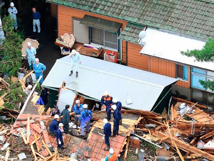 נזקים כבדים ביפן