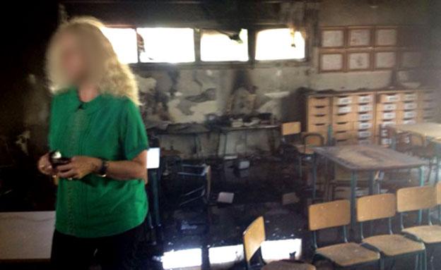 ההרס הנרחב בגן הילדים (צילום: חדשות 2)