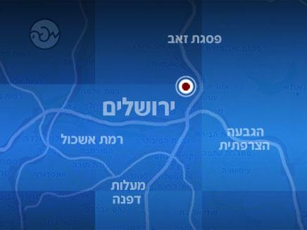 מפת האזור בו בוצע הפיגוע