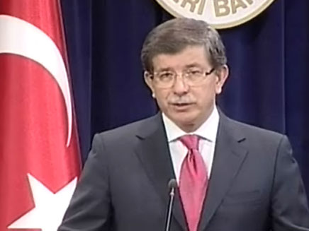 שר החוץ הטורקי אחמט דאבוטאולו (צילום: cnn turk)
