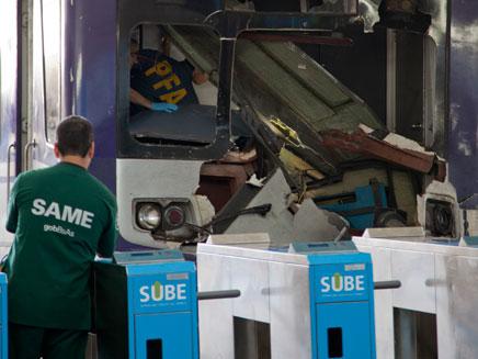 תאונת רכבת בארגנטינה (צילום: חדשות 2)