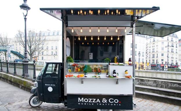 משאיות אוכל, פתח, צילום מסך מתוך דף הפייסבוקMozzaA (צילום: MozzaAndCo.It )