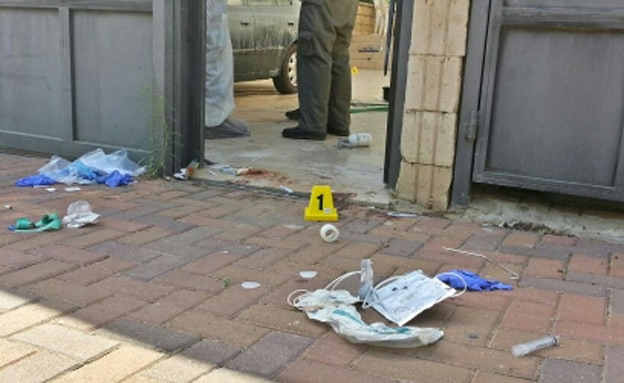 זירת הרצח בתל מונד (צילום: חדשות 2, אלירן חייט)