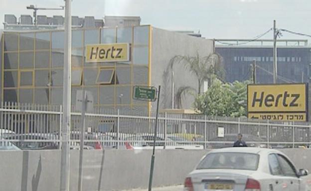 חברת hertz (צילום: חדשות 2)