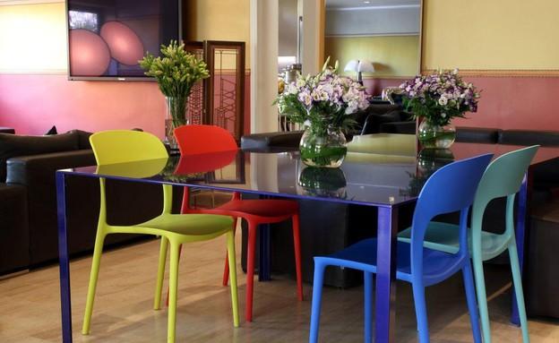 הפקה צבעונית, פינת אוכל כסאות  (צילום: לימור הרצוג אהרוני)