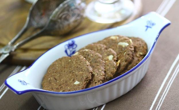 עוגיות קוואקר עם שוקולית וקינמון (צילום: מאיר קוקבוק, אוכל טוב)
