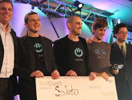 חברת סולוטו זוכה בתחרות של טק קראנץ' (צילום: TechCrunch)