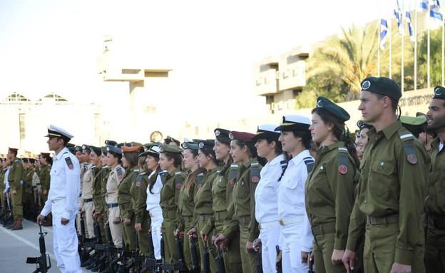"""טקס סיום קורס קצינים בבהד 1 (צילום: דובר צה""""ל)"""