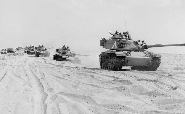"""טנקים של צה""""ל בקרבות מלחמת יום הכיפורים (צילום: ארכיון צה""""ל)"""