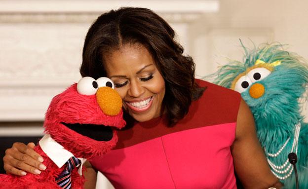 צפו: פגישת הפסגה של אובמה והבובות (צילום: רויטרס)