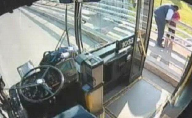 צפו בנהג מונע התאבדות (צילום: יוטיוב)