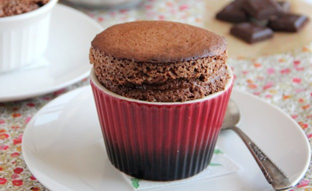סופלה או פונדנט - סופלה שוקולד (צילום: קרן ביטון כהן, thekitchencoach - בלוג האוכל של עז תלם)