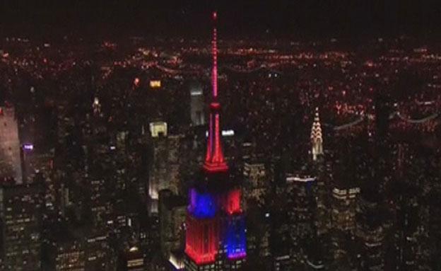 צפו: מופע האורות המרהיב בניו יורק (צילום: רויטרס)