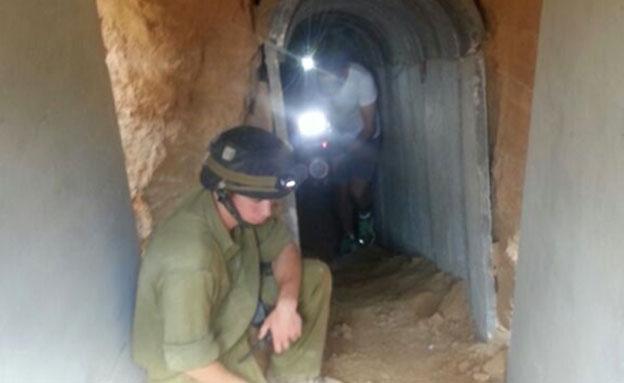המנהרה שנחשפה (צילום: חדשות 2)
