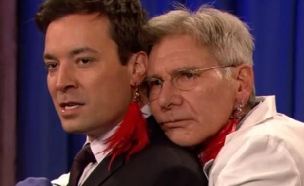 ג'ימי פאלון והאריסון פורד (צילום: צילום מסך מתוך יוטיוב)