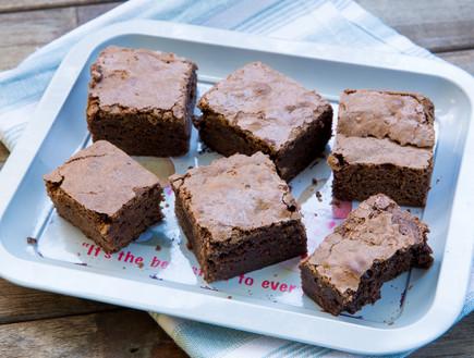 בראוניז שוקולד ונוגט (צילום: בני גם זו לטובה, אוכל טוב)