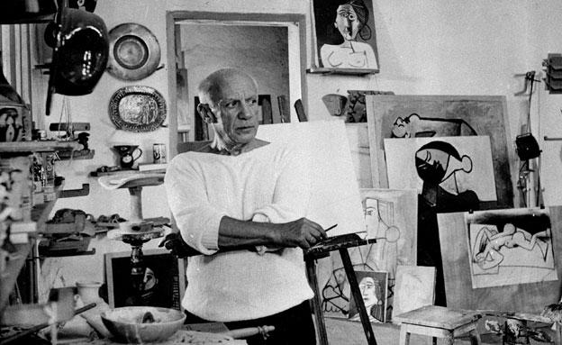 גם יצירותיו נגנב מהיהודים. פיקאסו (צילום: AP)