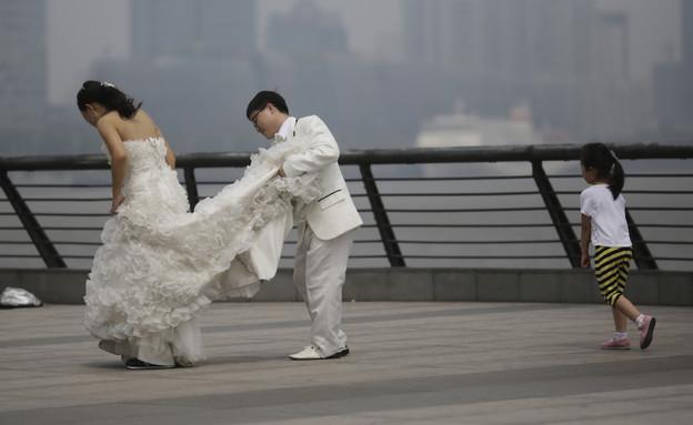 חתונה, שנגחאי (צילום: ap)