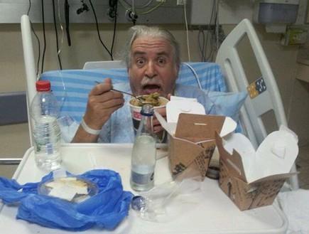 שלמה גרוניך בבית חולים (צילום:  Photo by Flash90, פייסבוק)